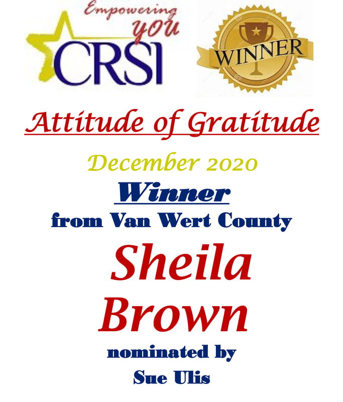 CRSI Sheila Brown nominated by Sue Ulis